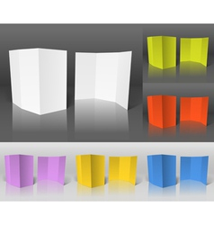 Blank paper booklets set template vector image