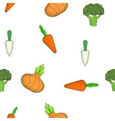 Farm vegetables pattern cartoon style vector image