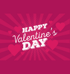 happy valentines day vintage hand drawing vector image