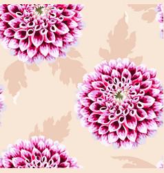 high detailed dahlia seamless vector image