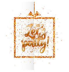 lets party banner on white vector image
