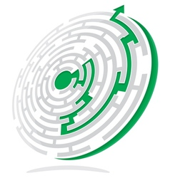 Maze solution vector