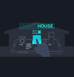 Smart house technology concept vector