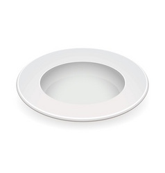 white china bowl vector image