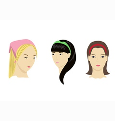 accessories for hair vector image vector image