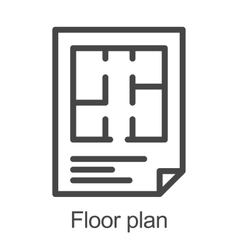 Flat floor plan icon vector image