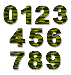 numbers military camouflage vector image vector image
