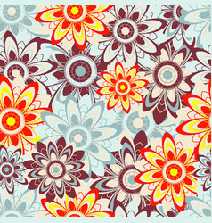 seamless texture with abstract flowers vector image vector image