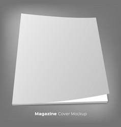 brochure or magazine mockup on gray vector image