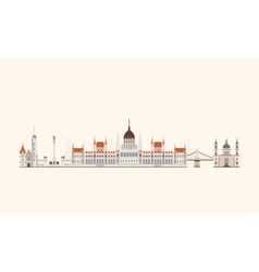 Budapest abstract skyline vector image vector image