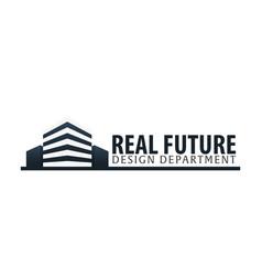 building logo design department modern buildings vector image