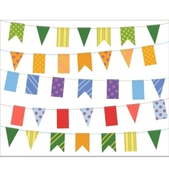 Celebrate banner Party festival flags collection vector image