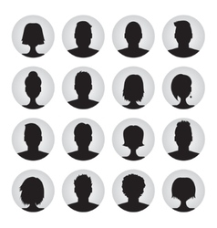 set of user profile icons vector image vector image