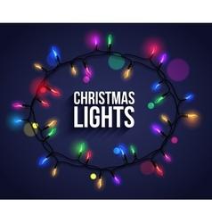 Colorful christmas light bulbs for celebratory vector image
