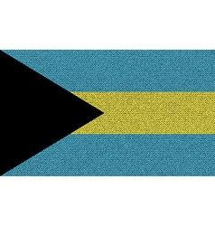 Flags Bahamas on denim texture vector image vector image