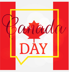 happy canada day vector image vector image