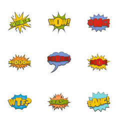 oups icons set cartoon style vector image