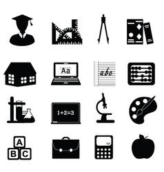 University icons vector