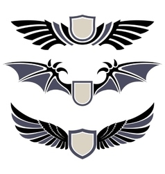 Wings Set of design elements vector image vector image