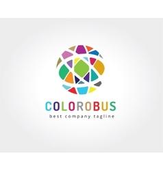 Abstract colored circles logo icon concept vector