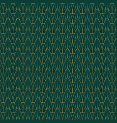 Art deco leaves pattern vector