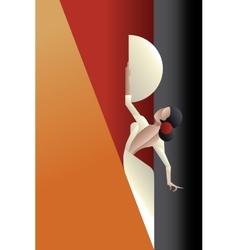 Art Deco styled Spain Flamenco dancer vector