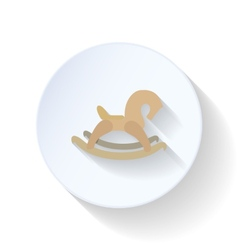 Baby horse flat icon vector image