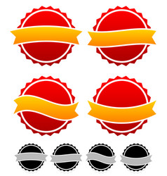 Badge pin templates with banners graphic vector
