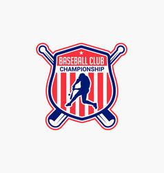 Baseball logo badge-7 vector