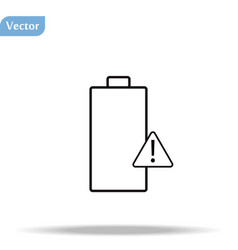 Battery icon or logo in modern line style high vector