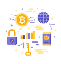 bitcoin concept isolated on white cryptocurrency vector image