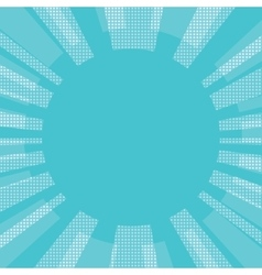 Blue comic retro background sun vector image