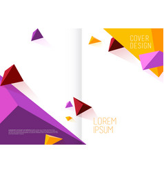 book cover design template with abstract vector image