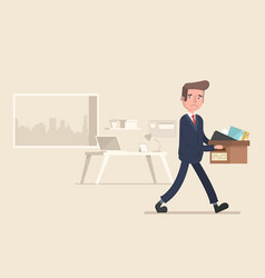 businessman fired job flat vector image