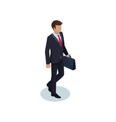 Businessman with briefcase vector