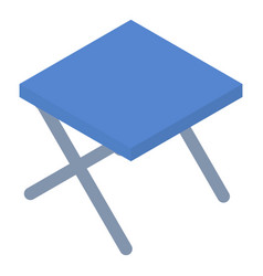 camp chair icon isometric style vector image