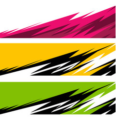 car wrap background vector image