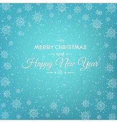 Christmas New Year card abstract snowflakes vector image