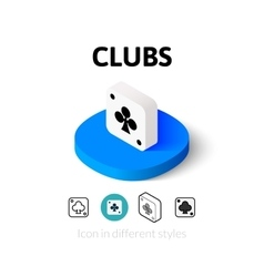 Clubs icon in different style vector
