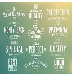 Collection retro premium quality labels vector