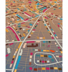 color town vector image