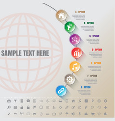 Colorful modern infographic complement time line vector