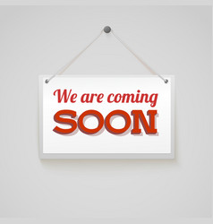 Coming soon sign vector image