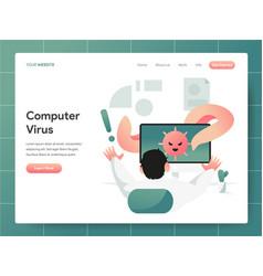 computer virus concept modern design concept vector image