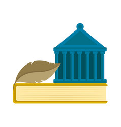 court building on top of a book icon vector image