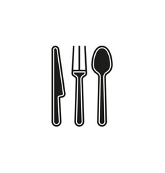cutlery fork knife and spoon vector image