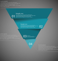 Dark inforgraphic with triangle divided to four vector