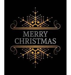 Decorative Merry Christmas inscription vector image