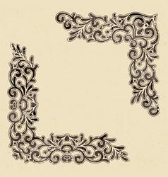 Elegant vintage corners vector
