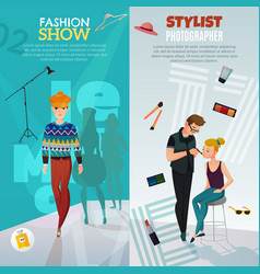 fashion show vertical banners vector image